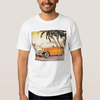 Vintage Family Vacation in a Convertible Car T-shirt