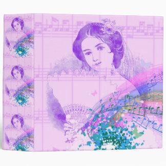 Vintage Fan Lady Sheet Music Binder/Photo Album Binder