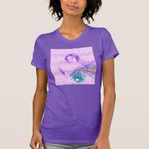 Vintage Fan Lady Sheet Music Purple T-Shirt