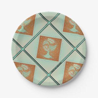 Vintage Fan paper platee Paper Plate