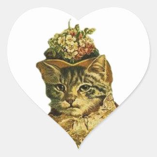 Vintage Fancy Cat Sticker