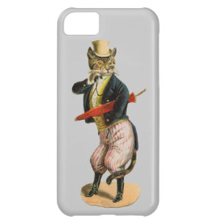 Vintage Fancy Cat with Monacle Case For iPhone 5C