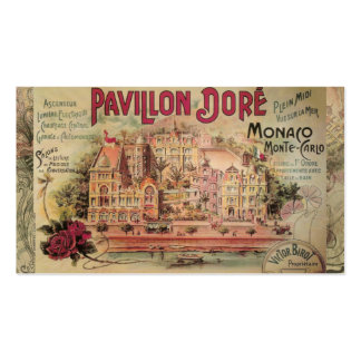 Vintage Fancy Monaco collage Monte Carlo Travel Business Card