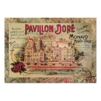Vintage Fancy Monaco collage Monte Carlo Travel Large Business Card