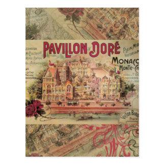 Vintage Fancy Monaco collage Monte Carlo Travel Postcard