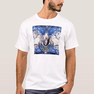 Vintage fancy ornate blue glass designer art T-Shirt