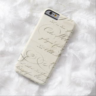 Vintage Fancy Script on Parchment Barely There iPhone 6 Case