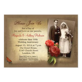 vintage fancy wedding anniversary invitations