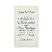 Vintage Fancy Western Wedding Save the Date