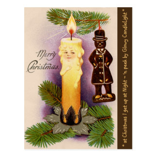 """VINTAGE FANTASY """"BABY FACE CANDLE"""" ORNAMENT POSTCARD"""