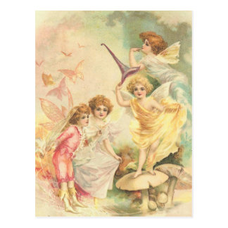Vintage Fantasy Faeries Postcard