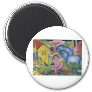 Vintage Fantasy  Painting Entitled 'The Dream' 2 Inch Round Magnet