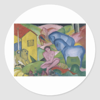 Vintage Fantasy  Painting Entitled 'The Dream' Classic Round Sticker
