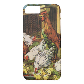 Vintage Farm Animals, Rooster, Hens, Chickens iPhone 8/7 Case