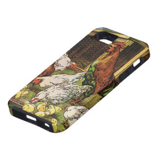 Vintage Farm Animals, Rooster, Hens, Chickens iPhone SE/5/5s Case