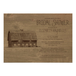 Vintage Farm Bridal Shower Invitations Personalized Invites