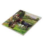 Vintage Farm Ceramic Tile