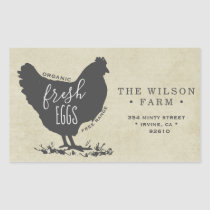 Vintage Farm Egg Carton Address Sticker