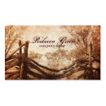 vintage farm fence western country fashion Double-Sided standard business cards (Pack of 100)