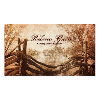 vintage farm fence western country fashion business card template