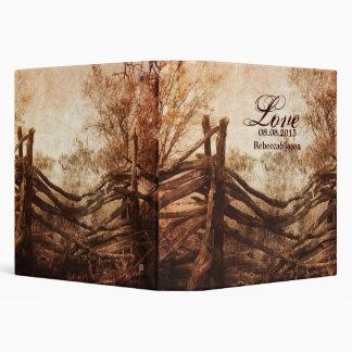 vintage farm fence western country wedding vinyl binders
