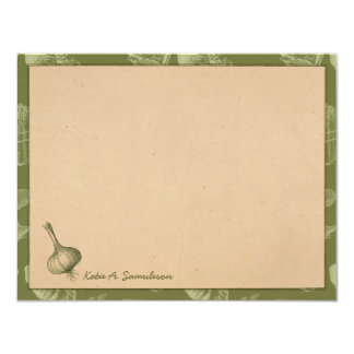 Vintage Farm Garden Personalized Flat Note Cards