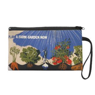 Vintage Farm Garden Wristlet