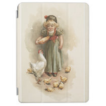 Vintage Farm Girl and Chickens iPad Air Cover