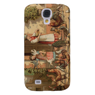Vintage Farm House mother and Daughter Galaxy S4 Cover