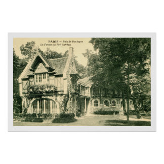 Vintage farm in the Bois du Boulogne, Paris France Poster