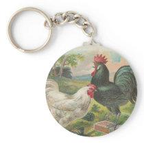 Vintage Farm Keychain
