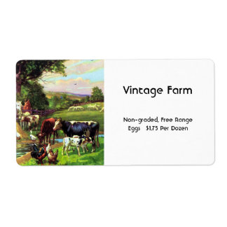 Vintage Farm Label