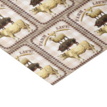 Vintage Farm life any purpose party tissue Tissue Paper