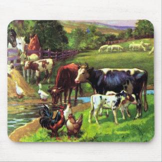 Vintage Farm Mouse Pad