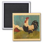 Vintage farm rooster Magnet