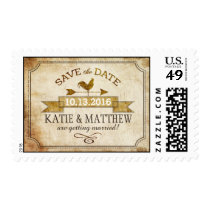 Vintage Farm Rooster Vane Rustic Save the Date Postage