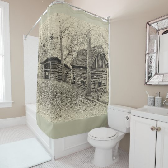 Vintage Farm Shower Curtain