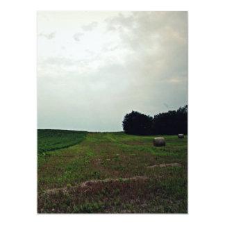 Vintage farm sky card