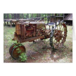 vintage farm tractor card