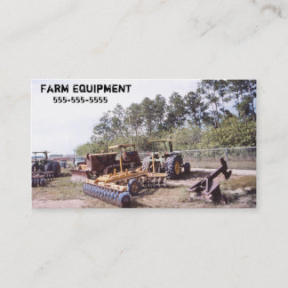 Vintage Farm Tractor Equipment Business Card