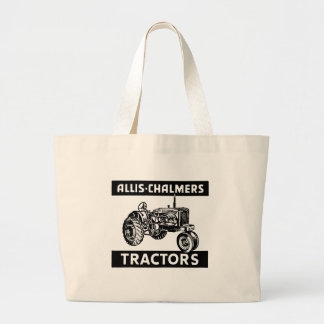 Vintage Farm Tractor Large Tote Bag