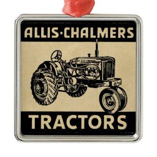 Vintage Farm Tractor Metal Ornament