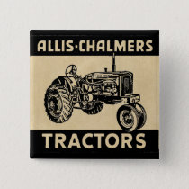 Vintage Farm Tractor Pinback Button