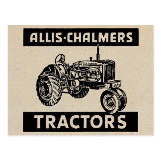 Vintage Farm Tractor Postcard