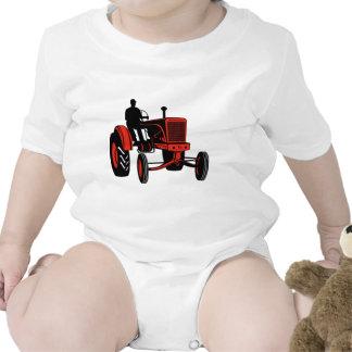 vintage farm tractor retro style bodysuits