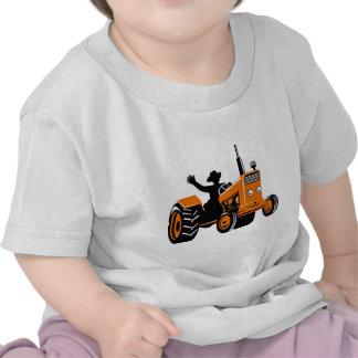 vintage farm tractor retro style tshirt