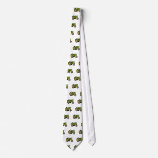 Vintage Farm Tractor Side View retro Neck Tie