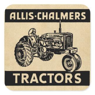 Vintage Farm Tractor Square Sticker