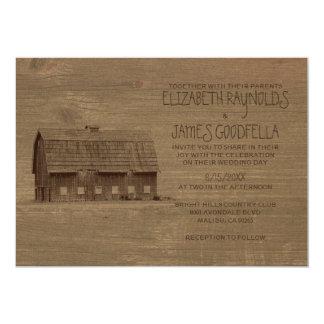 Vintage Farm Wedding Invitations