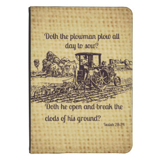 Vintage Farmer Isaiah 28 Kindle Case